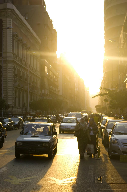 street, sunset, cairo, photo