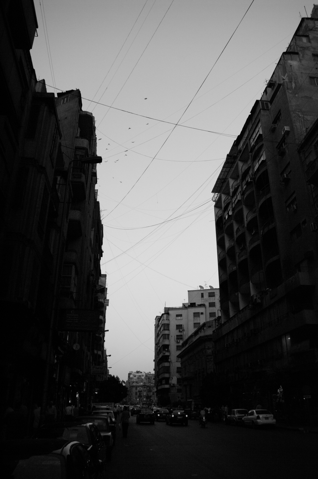 street wires,Cairo,Egypt,Photography,black and white