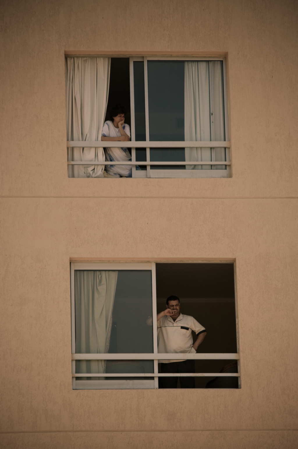 separate lives, port said, egypt, hotel, window, photography