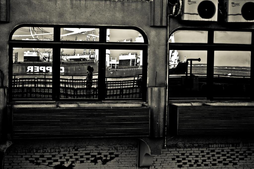Reflection,photography,port said,egypt,window,black and white