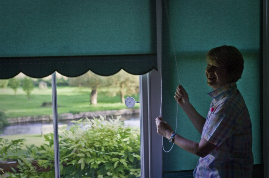 indoor,window,blinds,England,Summer,River test