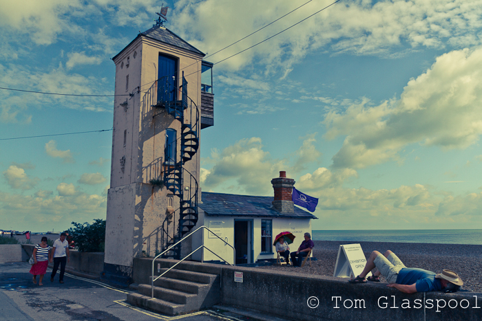 Beach, Seafront, Photos, Photography, Man Sleeping, Spiral Staircase, Aldeburgh, Suffolk, Street photography, Tom Glasspool